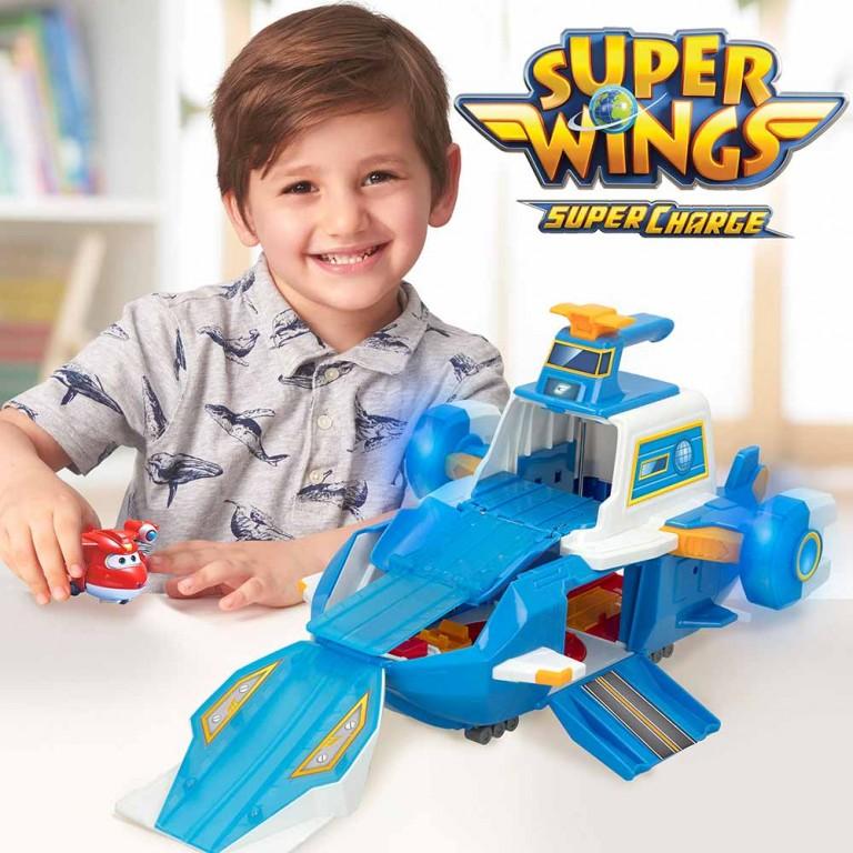 SUPER WINGS AEROPUERTO VOLADOR CON FIGUR