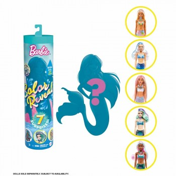BARBIE SURT.MUÑECAS SIRENA PAINT REVEAL