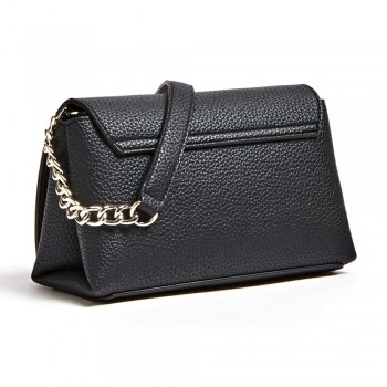 UPTOWN CHIC MINI XBODY FLAP BLACK