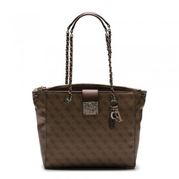LOGO CITY GIRLFRIEND CARRYALL BROWN