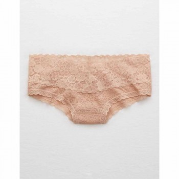 AERIE SM FLORAL WL CHEEKY NATURAL NUDE