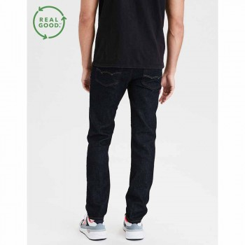 AMERICAN EAGLE AIRFLEX SLIM STRAIGHT DARK RINSE