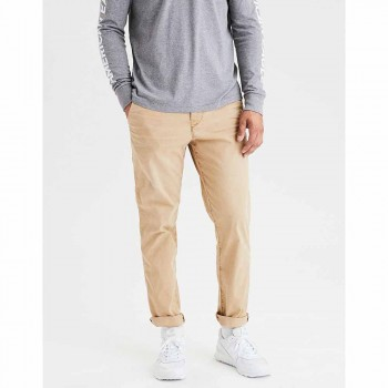 AMERICAN EAGLE SLIM STRAIGHT VTG CHINO SAND
