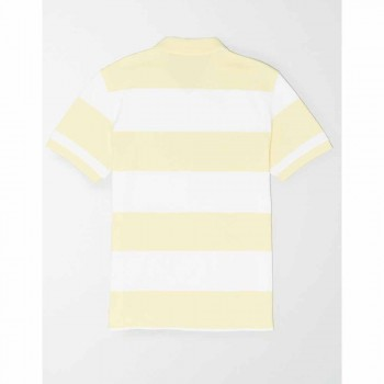 AMERICAN EAGLE INTL YD RUGBY STRIPE POLO YELLOW