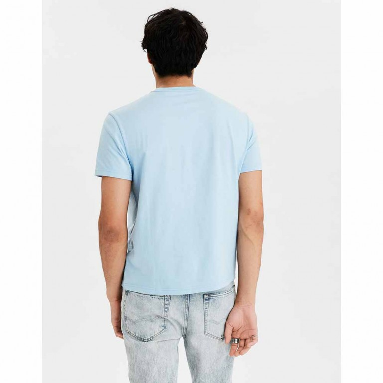AMERICAN EAGLE SS SET IN TEE- MFO BRAND ICE BLUE