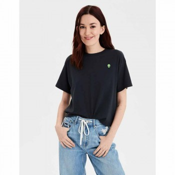 AMERICAN EAGLE 9480 EMBROIDERY TOUR TEE PC DYE WASHED BLACK