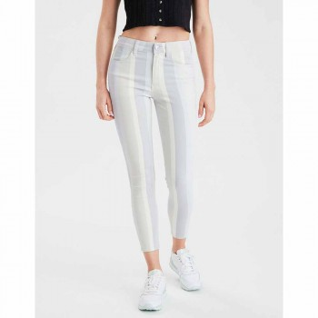 AMERICAN EAGLE HIGH RISE JEGGING CROP MULTI