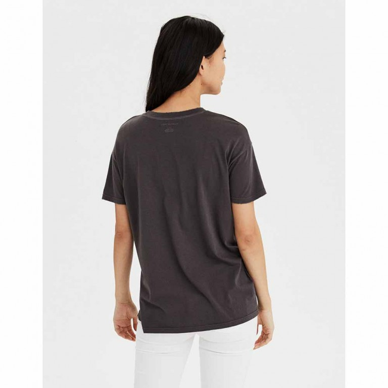 AMERICAN EAGLE 6973 SS CREW NK TEE WASHED BLACK