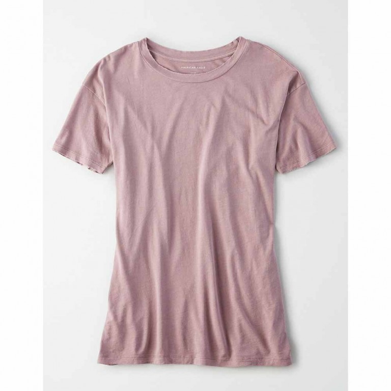 AMERICAN EAGLE 6973 SS CREW NK TEE PURPLE WASH