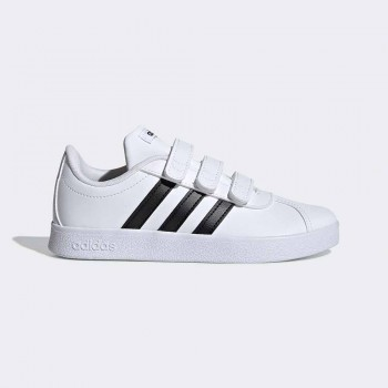 ADIDAS VL COURT 2.0 VELCRO INFANTS BLANC/NEGRE