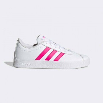 ADIDAS VL COURT 2.0 INFANTS BLANC/FUCSIA