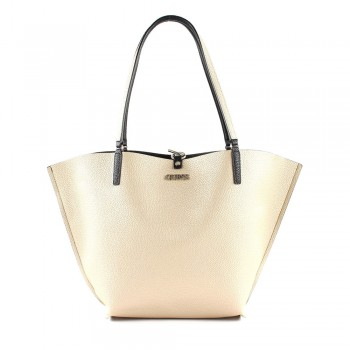 ALBY TOGGLE TOTE BLACK GOLD