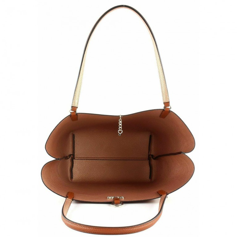 ALBY TOGGLE TOTE COGNAC/ROSEGOLD