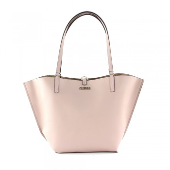 ALBY TOGGLE TOTE BROWN/BLUSH
