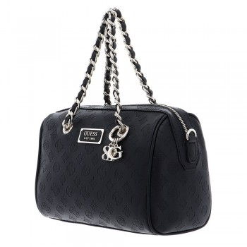 LOGO LOVE BOX SATCHEL BLACK