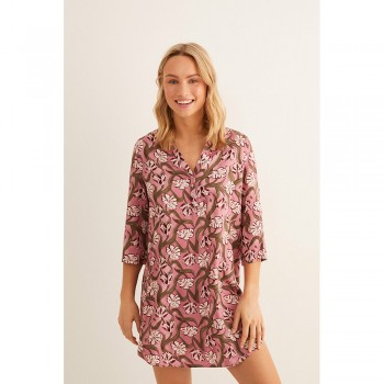 WOMEN'SECRET FLORS TUNICA LILA
