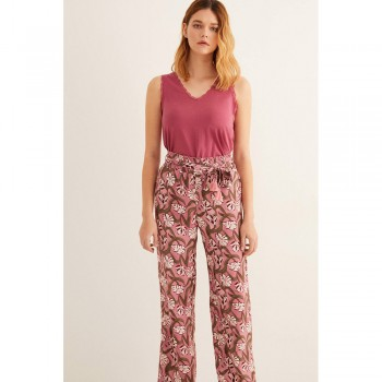 WOMEN'SECRET PINK PANTALONS FLORS